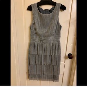 Silver Connected Apparel cocktail dress. NWT